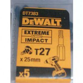 Биты ударные DeWALT IMPACT TORSION Т27, 25 мм, 5 шт (DT7383T)