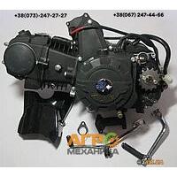 Двигатель на мопед Delta/Alpha/Active 125 сс механическое сцепление (Matte black) (тюнинг)