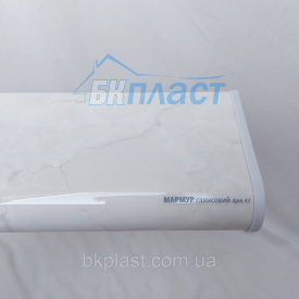 Подоконник PLASTOLIT Глянец мрамор 350