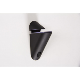 Мебельный полкодержатель Poliplast ПП-4 пластиковый черный