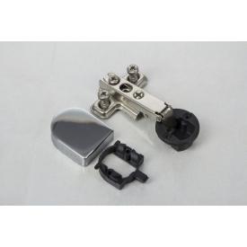 Петля швидкознімна GTV накладна для скла без доводчика з монтажною планкою 0 і овальною заглушкою