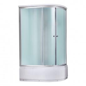 Гидромассажный бокс Qtap SBM12080.2L SAT, стекло Fabric 4 мм
