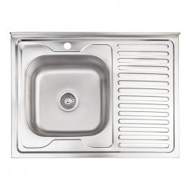 Кухонная мойка Lidz 6080-L 0,6 мм Decor (LIDZ6080DEC06)