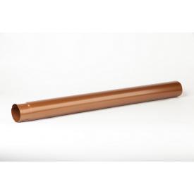 Водосточная труба Plannja 125/90 1 м коричневая