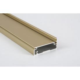 Алюминиевый рамочный профиль для мебельных фасадов М23 5,95 м золото