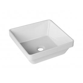 Частично врезной умывальник для ванной комнаты Bulsan Minima incasso квадратный 370x370x140