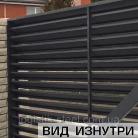 Забор Жалюзи Standart 60/100 мм двухслойная ламель двухстороннее покрытие