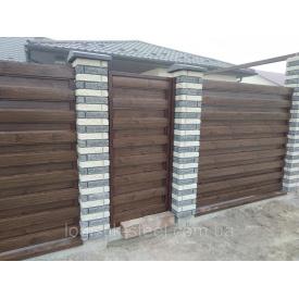 Забор Ранчо 130/100 мм горизонтальный металлический двухстороннее заполнение