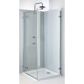 NEXT двери распашные 90 см левые закаленное стекло хром серебряный блеск Reflex KOLO HDSF90222003L