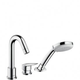 Logis Смеситель для ванны на три отверстия с ручным душем HANSGROHE 71310000