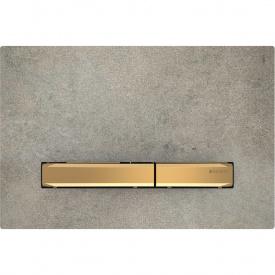 Клавиша смыва Geberit Sigma50 для двойного смыва цвет металлический латунь и керамика под бетон 115.672.JV.2