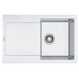 Кухонна мийка FRANKE MARIS вбудована зверху, 1-камерна оборотна 780х500 мм h200, білий 114.0306.816