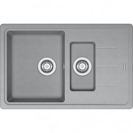 Кухонна мийка Franke Basis вбудована зверху, 1,5-камерна, з сифоном 780x500 мм, сірий камінь BFG 651-78 (114.0565.111)