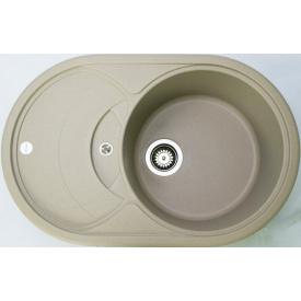 Кухонна мийка Adamant SHELL 775х495х200, з сифоном, 02 сахара