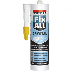 Клей герметик SOUDAL FIX ALL кристалл 290 мл