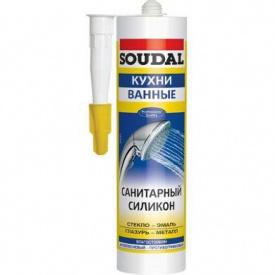 Герметик силиконовый санитарный белый SOUDAL 280 мл
