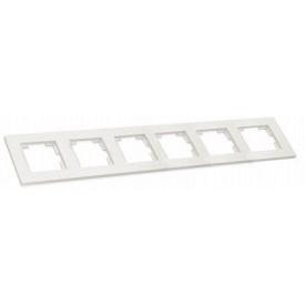Рамка горизонтальна шестимісна RITA Mutlusan білий