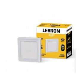 LED світильник LEBRON L-PS-1241 12W вбудований 4100K з блоком живлення