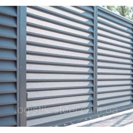 Забор жалюзи Classic 40/120 мм из оцинкованного металла с полимерным покрытием