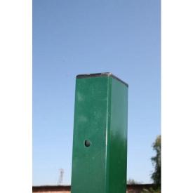 Столб для забора из профильной оцинкованной трубы с полимерным покрытием 40x60x2,0 мм 2,0 м