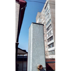 Столб для забора из профильной оцинкованной трубы 40x40x2,0 мм 2,0 м