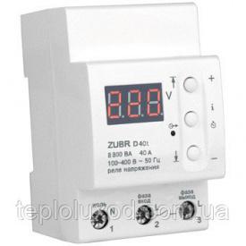 Реле контролю напруги ZUBR D40t