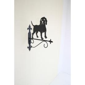Подставка-крепление Холодная ковка для подвесного цветка Собака 5