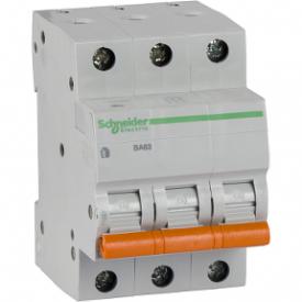 Автоматический выключатель ВА63 3П 6A C 4,5 кА