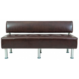 Диван Richman Офис Двойка 1550 x 680 x 750H см Со спинкой Титан Firenze Темно-коричневый