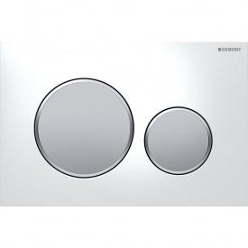 Смывная клавиша Geberit Sigma20 двойной смыв белый и хром матовый 115.882.KL.1