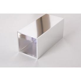 Труба квадратная пустотелая алюминиевая хромированная45х45 хром для мебельных конструкций 5,95 м