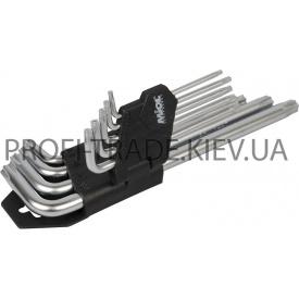 56-398 Набір торцевих ключів TORX подовжених 9 шт CRV T 10-T 50