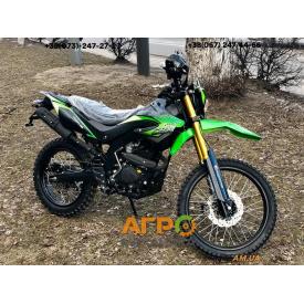 Мотоцикл FORTE FT250GY-CBA (зелено-черный)