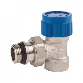 """Клапан термостатический SD Forte 1/2"""" с антипротечкой для радиатора угловой SF238W15"""