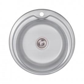 Кухонная мойка Lidz 510-D 0,6 мм Decor (LIDZ510D06DEC)