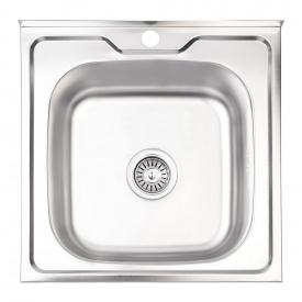 Кухонная мойка Lidz 5050 0,6 мм Satin (LIDZ5050SAT06)