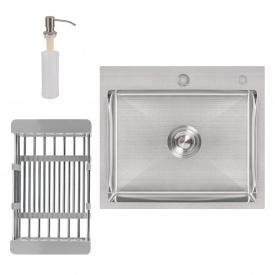Кухонная мойка Lidz H5045 3.0/1.0 мм Brush (LIDZH5045BRU3010)