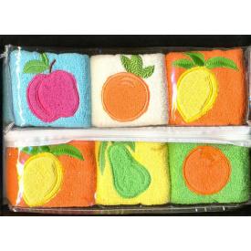 Набор кухонных полотенец Arya Lares Soft 30x50 см 6 шт в упаковке Фруктовый
