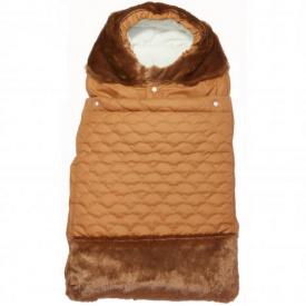 Конверт зимний на молнии Мишка Руно 65х40 см коричневый