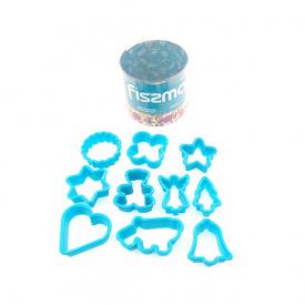 Набор из мини-формочек для печенья Fissman пластик 10 шт AY-7468-BW