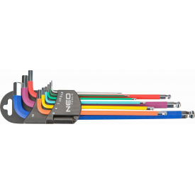 Набір шестигранних ключів NEO Tools 1,5-10 мм 9 шт (09-512)