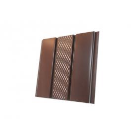 Панель Термастил коричневая перфорированная