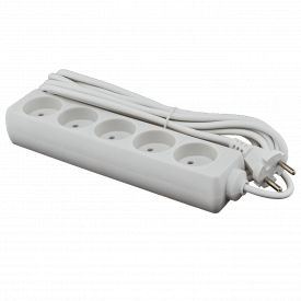 Подовжувач мережевий LogicPower LP-WX5 5 розеток 5 м без заземлення