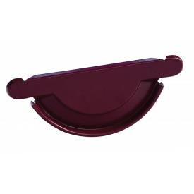 Заглушка желоба универсальная с уплотнителем Bilka 125 мм вишнево-красная (RAL 3005)