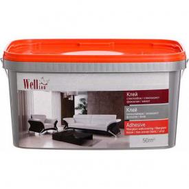 Клей обойный для стеклотканевых обоев Wellton готовый к применению 10 кг расход 45-50 м2
