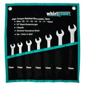 Набір ключів Whirlpower трещоточных 10-19 мм 7 шт 23630/ 1244-11-B07