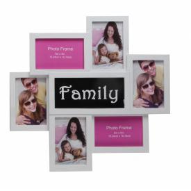Мультирамка для фото Angel Gifts 7 в 1 біла (BIN-1122547)