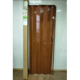Дверь гармошка глухая 810 х 2030 Черешня
