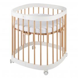 Детская кроватка многофункциональное Tweeto 7 в 1 бук/белый