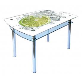 Стол обеденный стеклянный КС-4 стекло 10 мм фотопечать